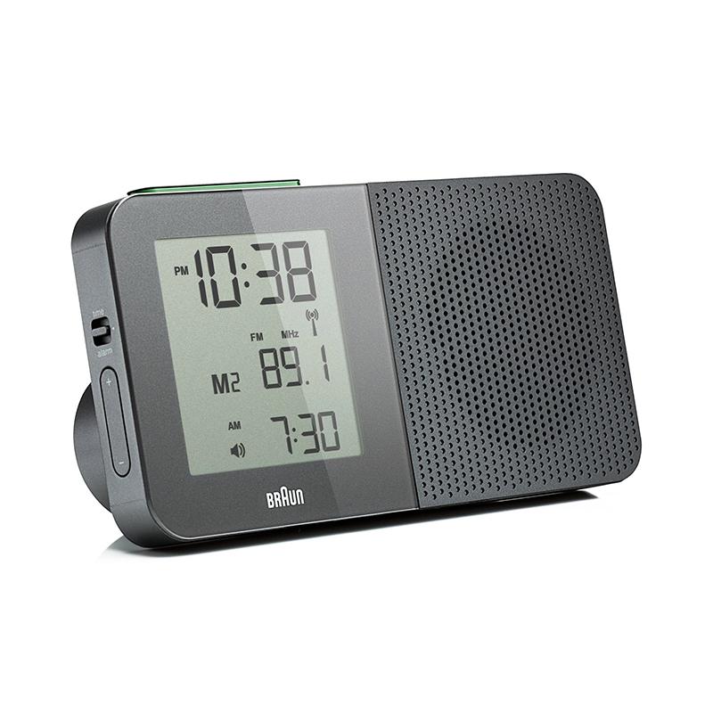 Réveil Digital BRAUN BNC010 GRIS. BNC010GY-RC