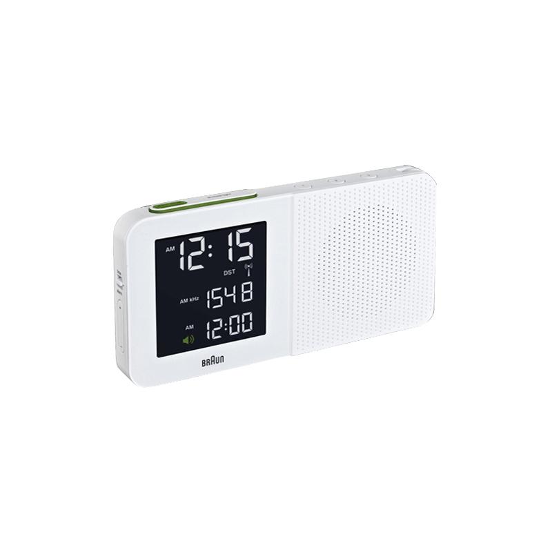 Réveil Digital BRAUN BNC010 BLANC. BNC010WHI--RC