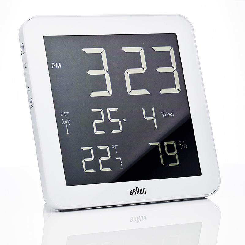 Horloge BRAUN BNC014 BLANC. BNC014WHI-RC