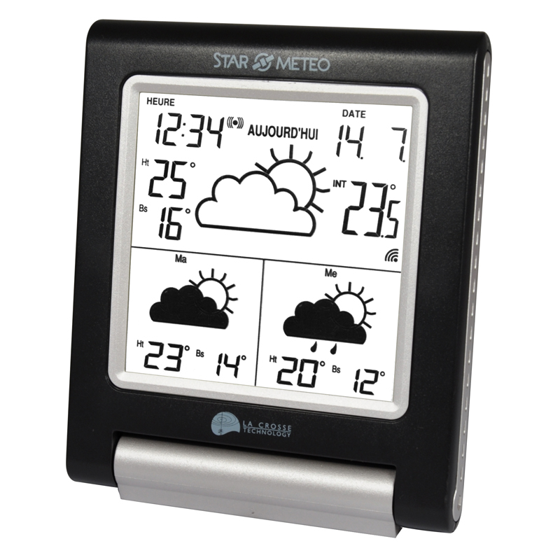 Station Starmétéo LA CROSSE TECHNOLOGY WD1201 NOIR ARGENT. WD1201IT-BLA-S