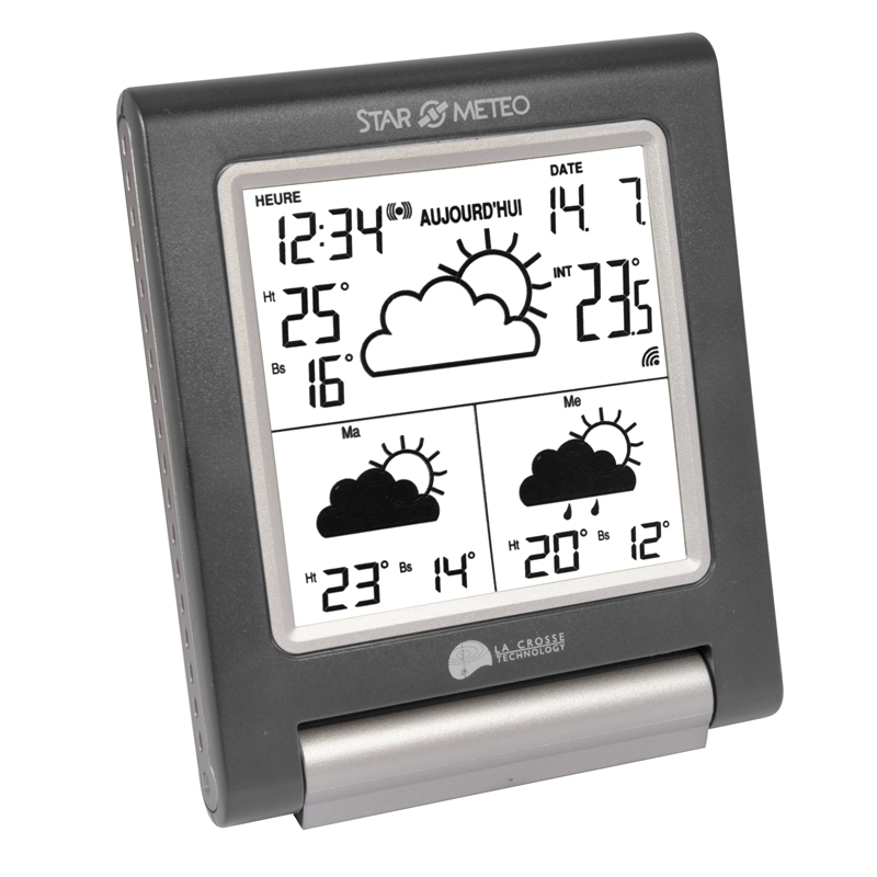 Station Starmétéo LA CROSSE TECHNOLOGY WD1201 GRIS METAL ARGENT . WD1201IT-MG-BLI
