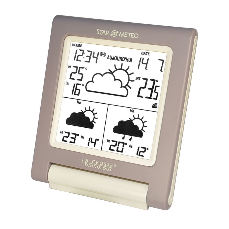 Station Starmétéo LA CROSSE TECHNOLOGY WD1201 TAUPE IVORY. WD1201IT-TA-BLI