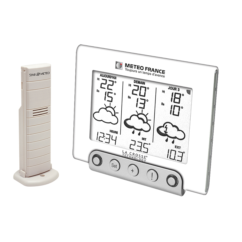 Station Météo France LA CROSSE TECHNOLOGY WD4935 BLANC. WD4935-W-BLI