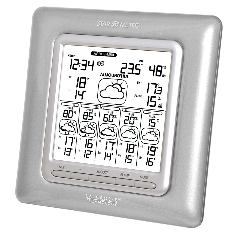 Station Starmétéo LA CROSSE TECHNOLOGY WD6003 ARGENT. WD6003IT-SIL-S