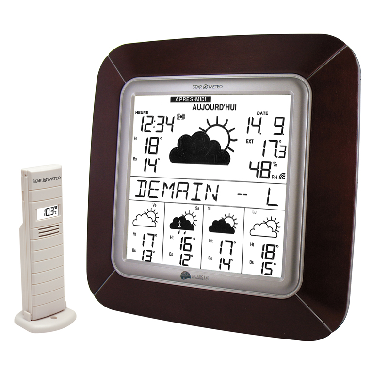 Station Starmétéo LA CROSSE TECHNOLOGY WD9005 CHERRY ARGENT. WD9005IT-CHE-S