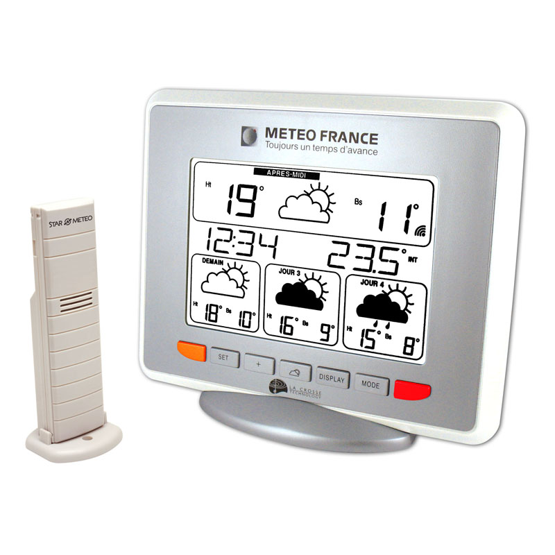 Station Météo France LA CROSSE TECHNOLOGY WD9530 BLANC ARGENT. WD9530F-IT-WH-S