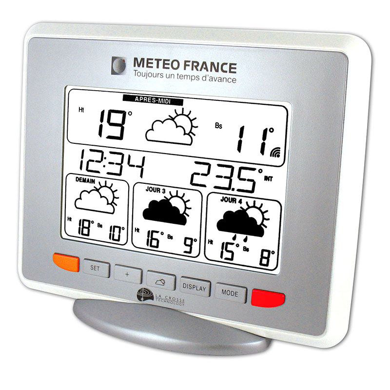 Station Météo France LA CROSSE TECHNOLOGY WD9530 BLANC EN BLISTER. WD9530ITWHI-BLI