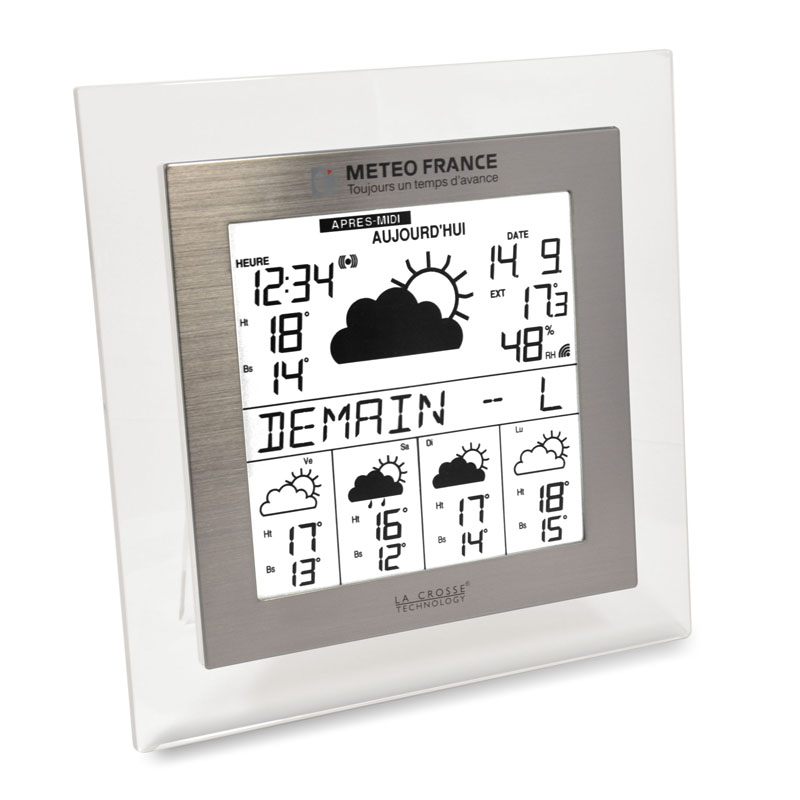 Station Météo France WD9542 TRANSPARENT ALU. WD9542IT-TRA-A