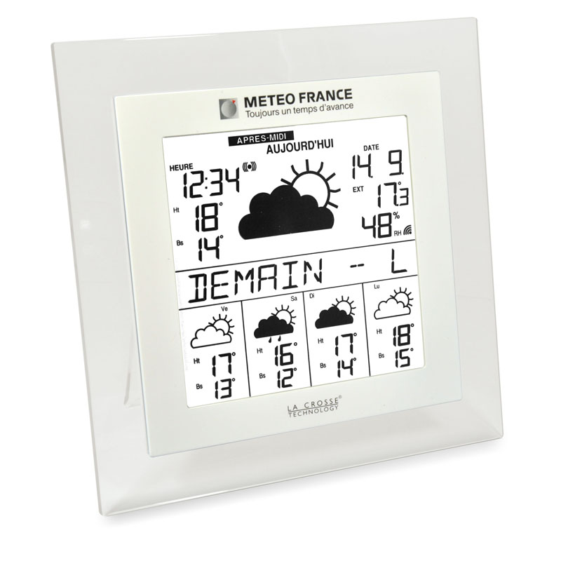 Station Météo France LA CROSSE TECHNOLOGY WD9542 TRANSPARENT BLANC. WD9542IT-TRA-W