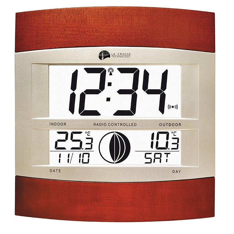Horloge LA CROSSE TECHNOLOGY WS6118 ARGENT BOIS. WS6118IT-S-MAF