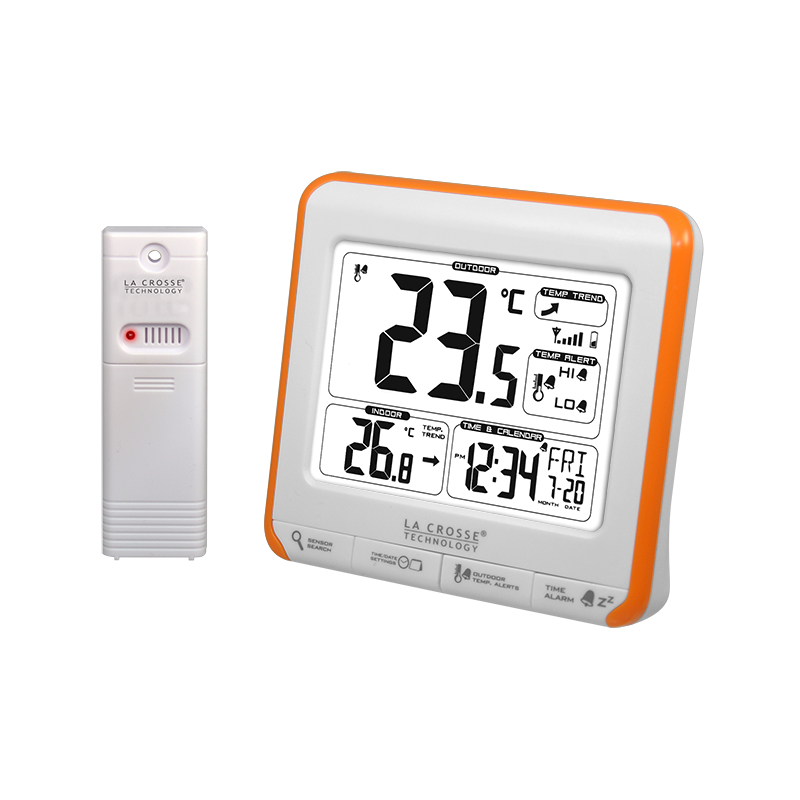 Station Température LA CROSSE TECHNOLOGY WS6811 BLANC ORANGE. WS6811WHI-ORA