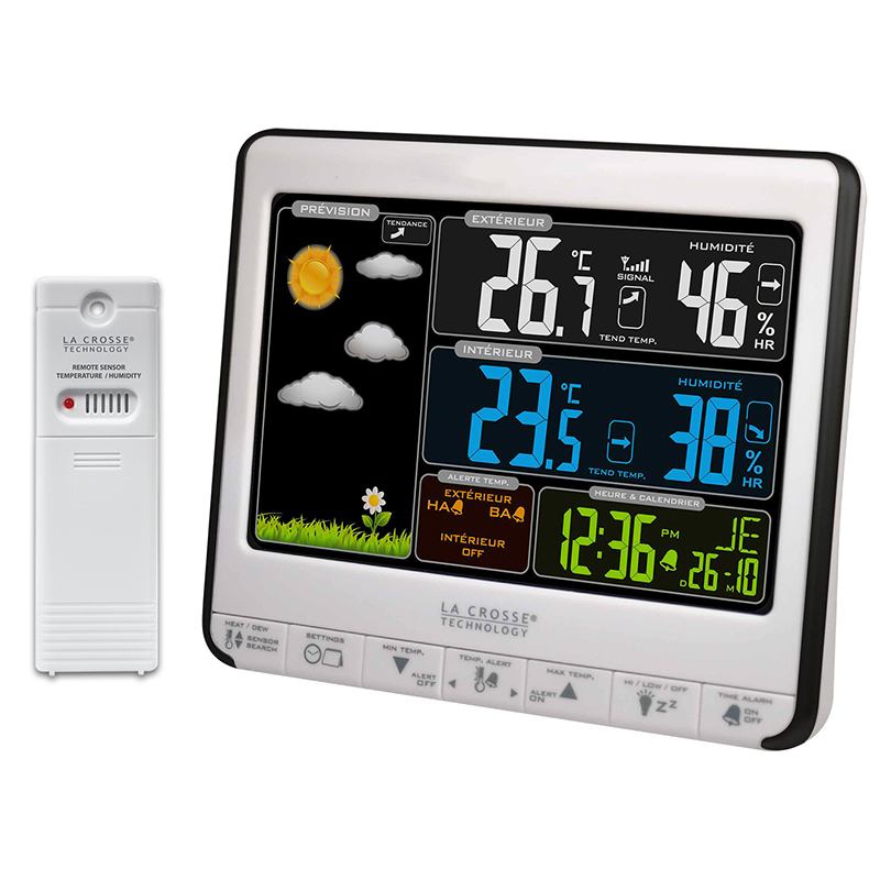 Station Météo simple LA CROSSE TECHNOLOGY WS6826 BLANC NOIR. WS6826WHI-BLA