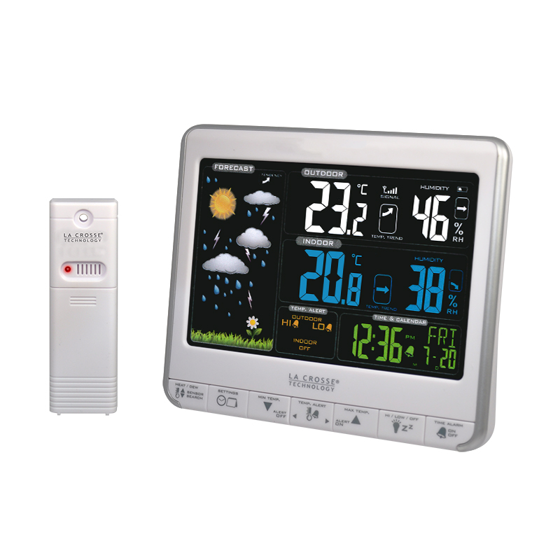 Station Météo simple LA CROSSE TECHNOLOGY WS6826 BLANC ARGENT. WS6826WHI-SIL
