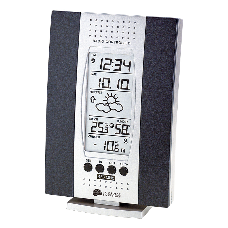 Station Météo simple LA CROSSE TECHNOLOGY WS7014 ARGENT BLEU. WS7014SIL-BLU