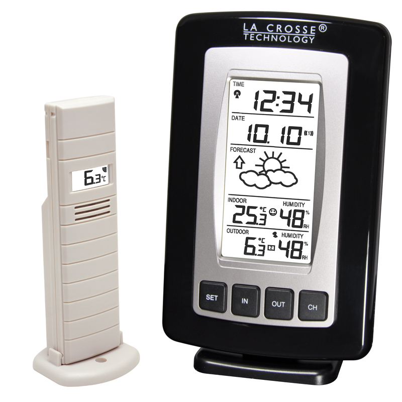 Station Météo simple LA CROSSE TECHNOLOGY WS7027 NOIR ARGENT. WS7027IT-B-SIL