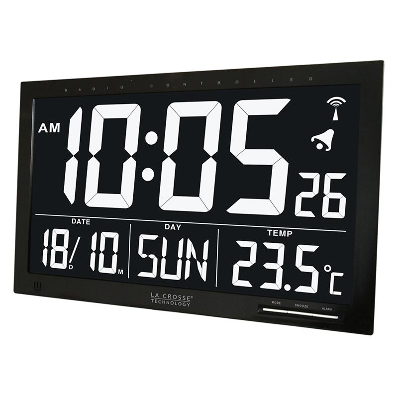 Horloge LA CROSSE TECHNOLOGY WS8007 ECRAN NOIR. WS8007-B-NEG