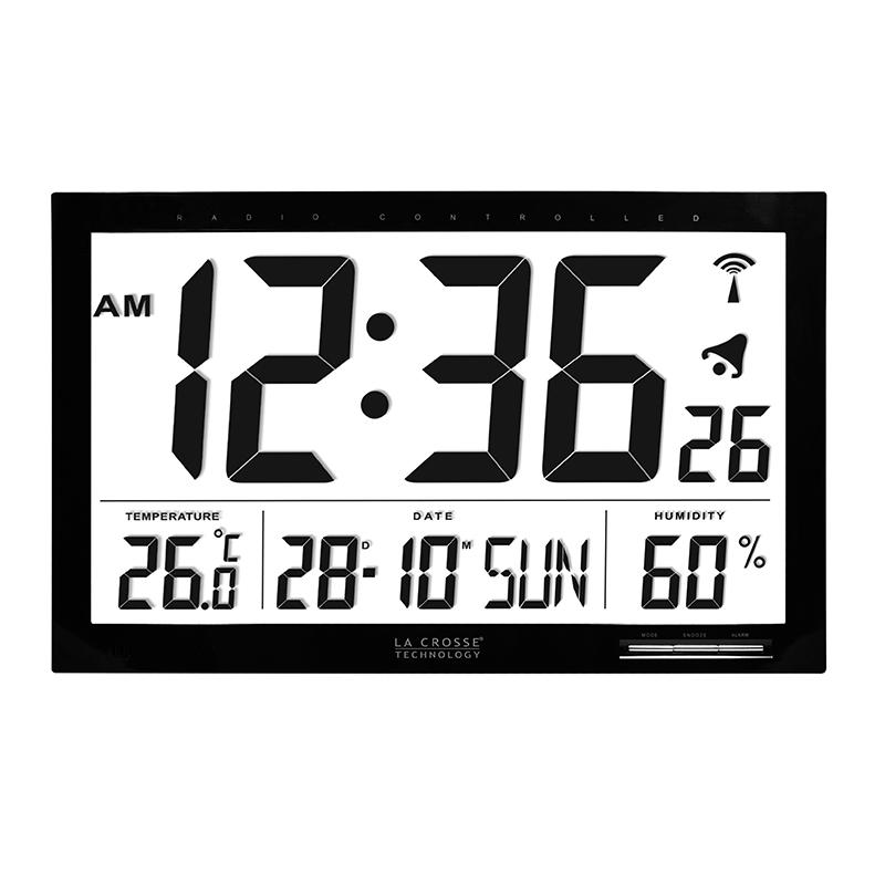 Horloge LA CROSSE TECHNOLOGY WS8007 NOIR. WS8007-BLA