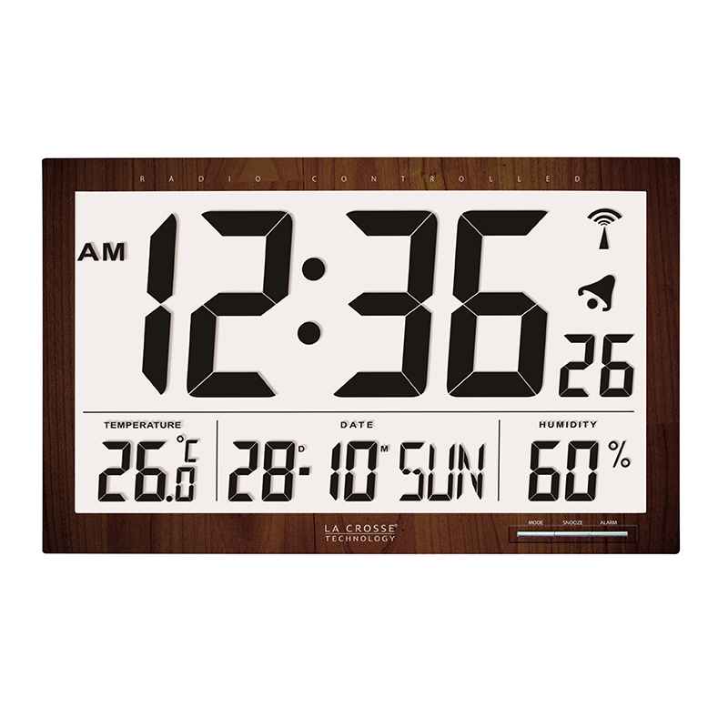 Horloge LA CROSSE TECHNOLOGY WS8007 BOIS. WS8007-WOOD
