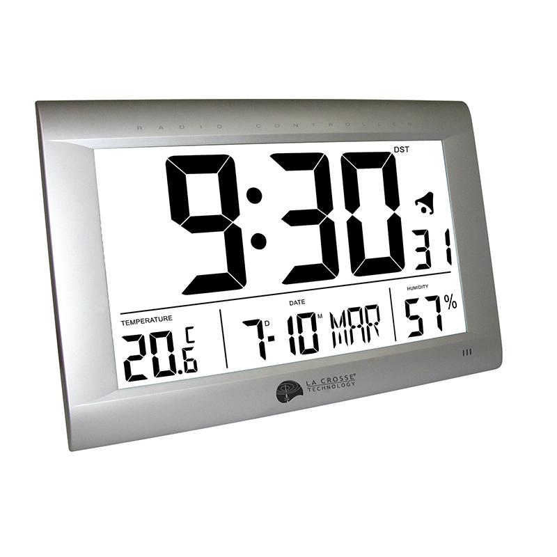 Horloge LA CROSSE TECHNOLOGY WS8009 ARGENT. WS8009-SIL