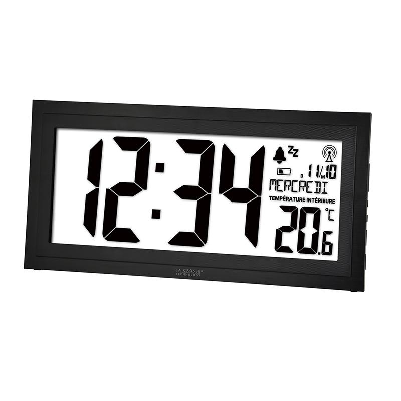Horloge LA CROSSE TECHNOLOGY HORLOGE MURALE WS8010 NOIR. WS8010-BLA