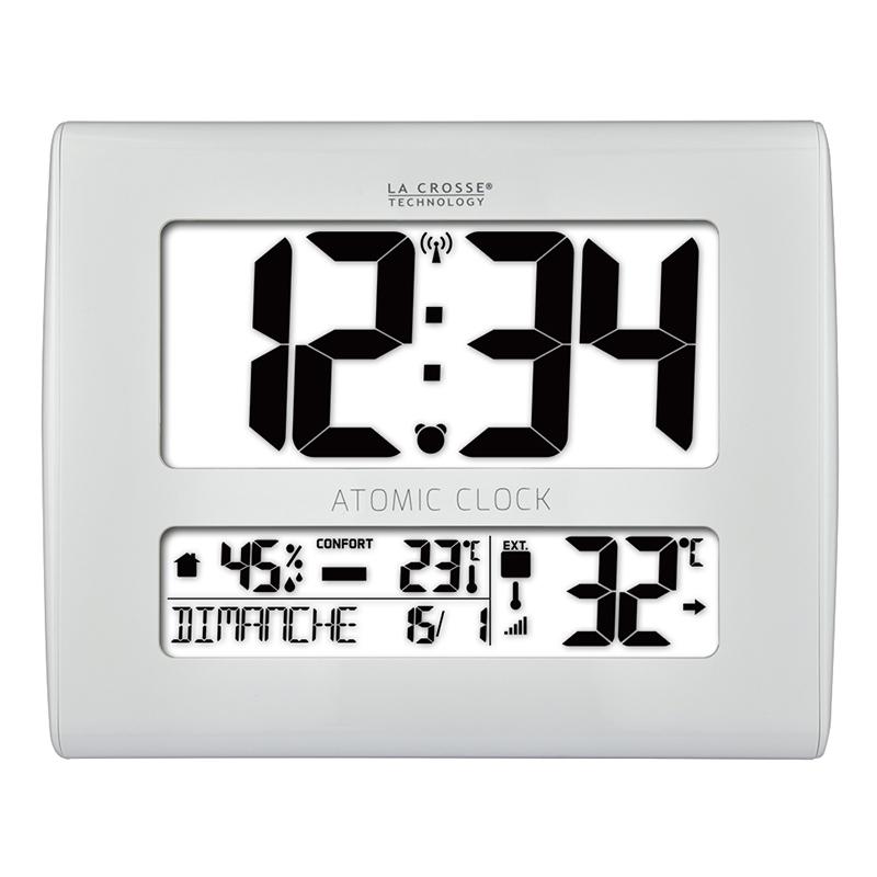 Horloge LA CROSSE TECHNOLOGY HORLOGE MURALE WS8020 BLANC. WS8020-WHI