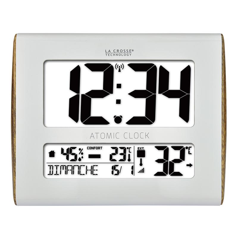 Horloge LA CROSSE TECHNOLOGY HORLOGE MURALE WS8020 BLANC BOIS. WS8020WH-WOOD