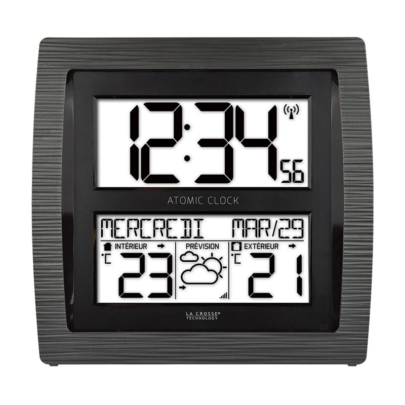 Horloge LA CROSSE TECHNOLOGY HORLOGE MURALE WS8030 NOIR. WS8030-BLA