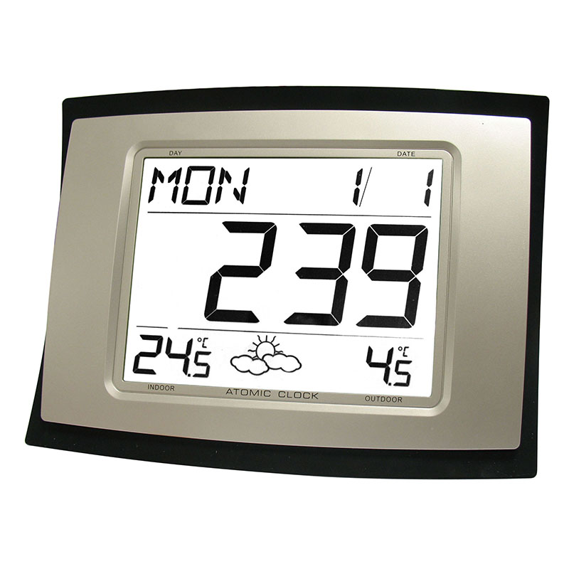 Horloge LA CROSSE TECHNOLOGY WS8167 NOIR ARGENT. WS8167IT-B-SIL