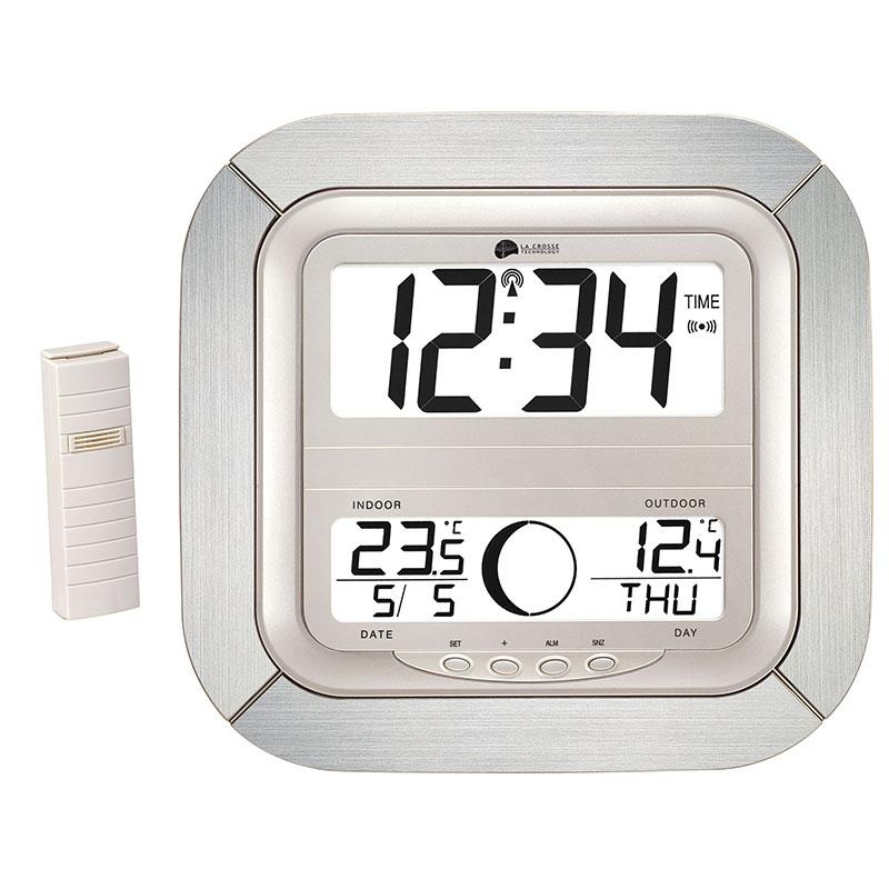 Horloge LA CROSSE TECHNOLOGY WS8418 ARGENT ALUMINIUM. WS8418IT-S-ALU