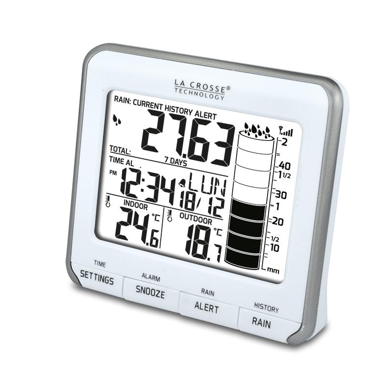 Appareil spécialisé LA CROSSE TECHNOLOGY WS9005 BLANC ARGENT Pluviomètre électronique. WS9005WHI-SIL