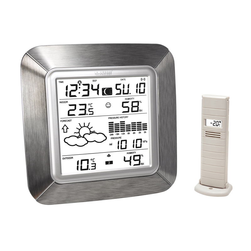 Station Météo simple LA CROSSE TECHNOLOGY WS9057 ALUMINIUM ARGENT. WS9057IT-ALU-S