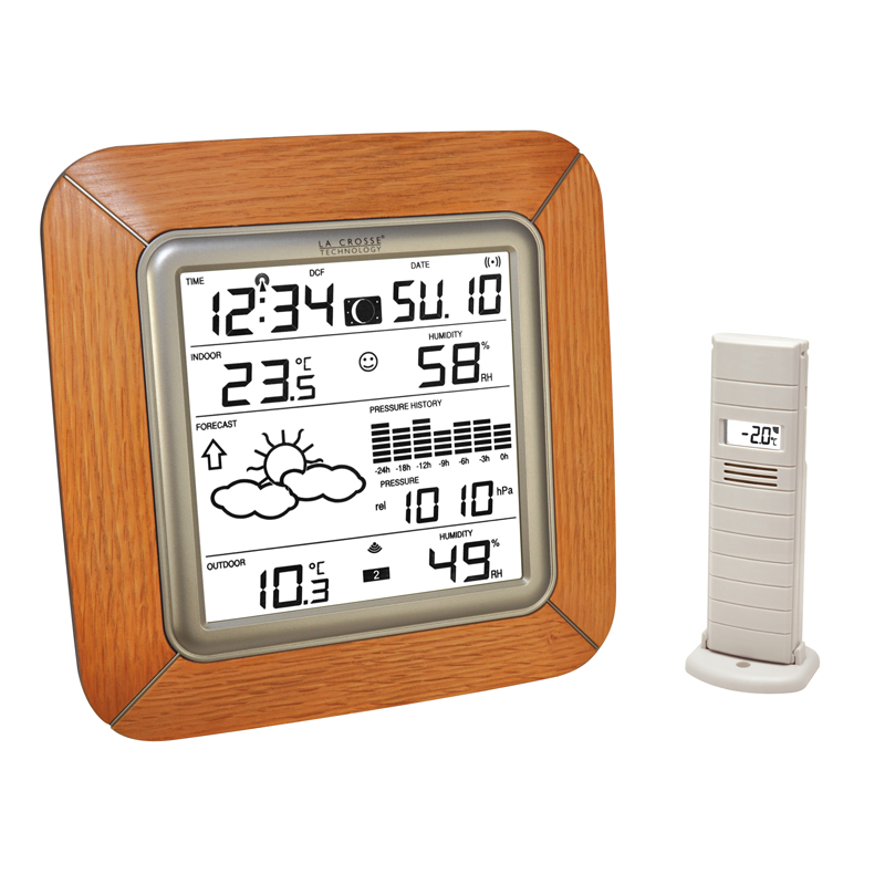 Station Météo simple LA CROSSE TECHNOLOGY WS9057 CHENE BRONZE. WS9057IT-O-BRA