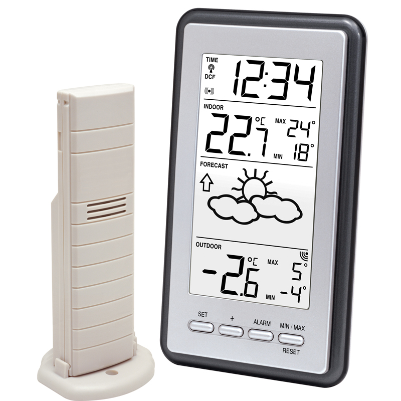 Station Météo simple LA CROSSE TECHNOLOGY WS9130 ARGENT GRIS. WS9130IT-S-MEG