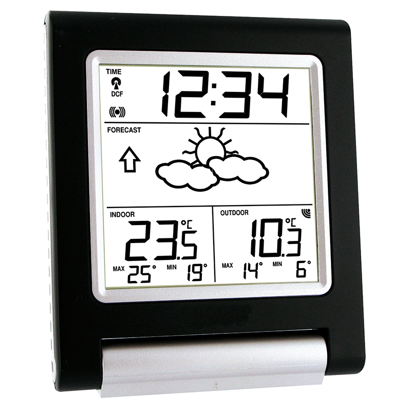 Station Météo simple LA CROSSE TECHNOLOGY WS9135 NOIR ARGENT. WS9135IT-B-DIS