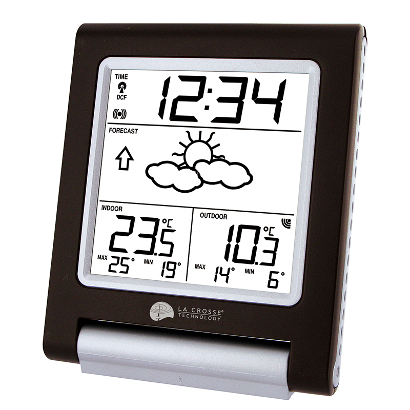 Station Météo simple WS9135 CHOCOLAT ARGENT. WS9135IT-C-DIS