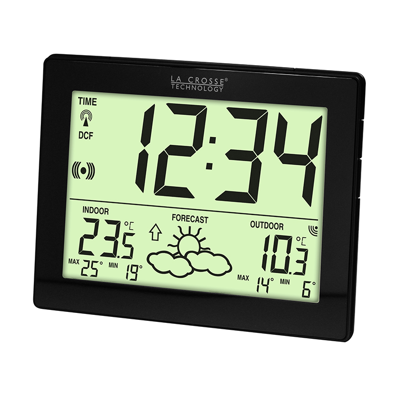 Station Météo simple LA CROSSE TECHNOLOGY WS9180IT NOIR BAT. WS9180IT-B-BAT