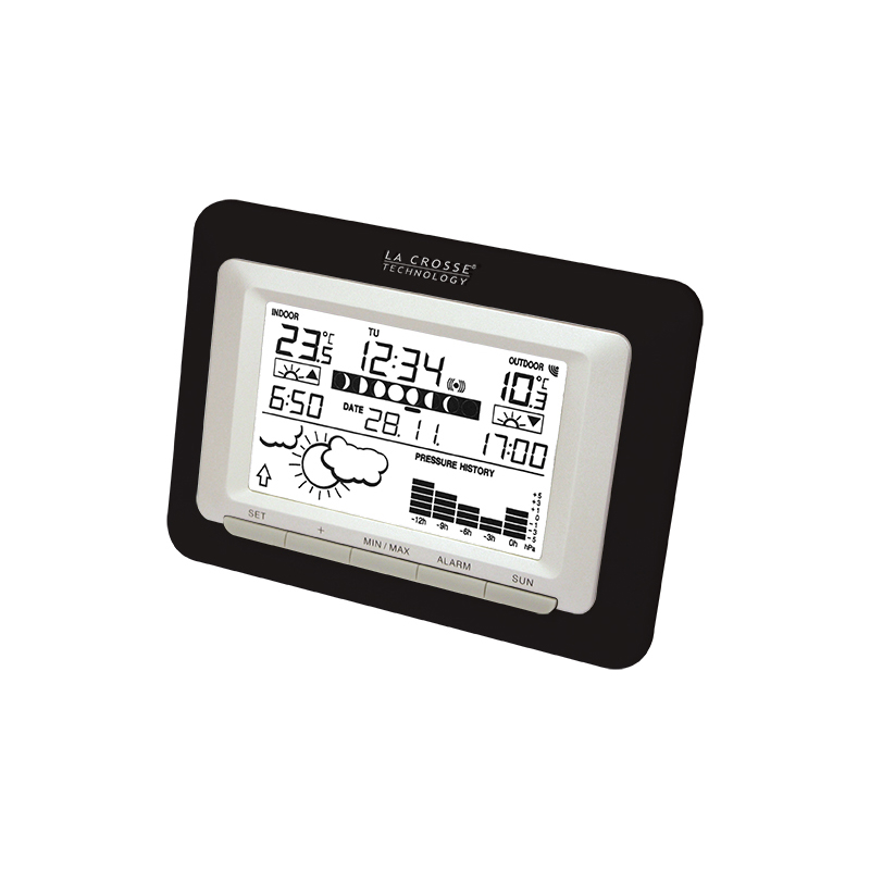 Station Météo simple LA CROSSE TECHNOLOGY WS9250IT NOIR ARGENT. WS9250IT-BLA-S