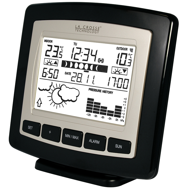 Station Météo simple LA CROSSE TECHNOLOGY WS9251 NOIR ARGENT. WS9251IT-BLA-S