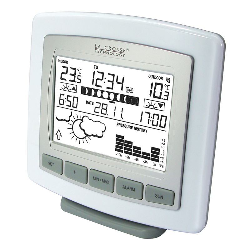 Station Météo simple WS9251 BLANC ARGENT. WS9251IT-WHI-S