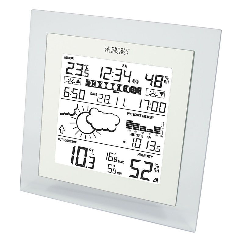 Station Météo simple LA CROSSE TECHNOLOGY WS9257 TRANSPARENT BLANC. WS9257IT-TRA-W