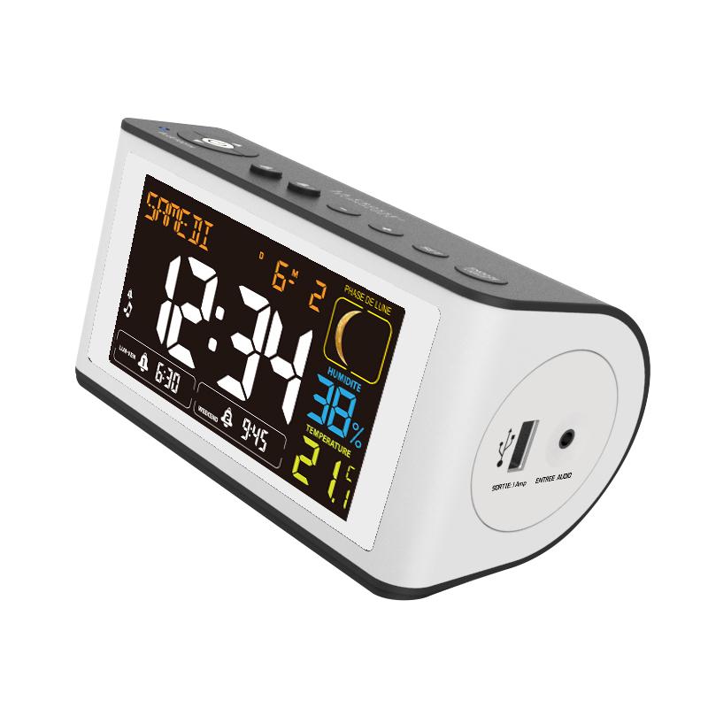 Réveil Digital LA CROSSE TECHNOLOGY WT470 NOIR BLANC. WT470BLA-WHI