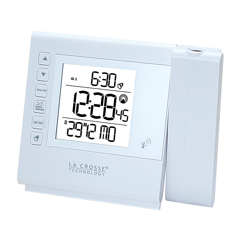 Réveil Digital LA CROSSE TECHNOLOGY WT517 BLANC. WT517-WHI