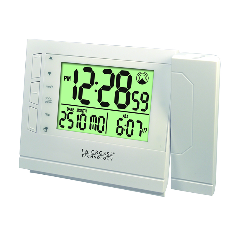 Réveil Digital LA CROSSE TECHNOLOGY WT519 BLANC. WT519-WHI
